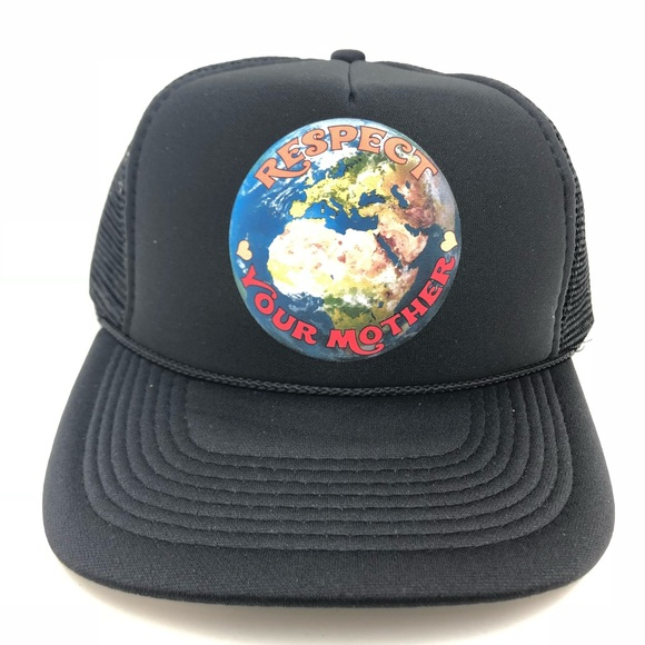 ebba796b thread revival Accessories | Respect Your Mother Earth Black Trucker ...